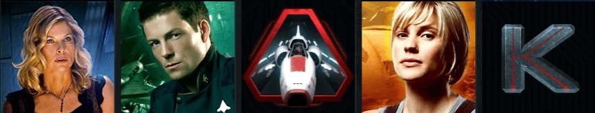 BattlesStar Galactica vinstlinje symboler