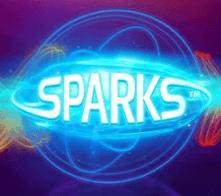 Sparks logo på spelautomaten