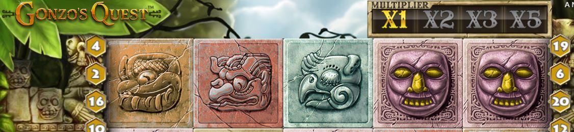 gonzos quest SE symboler